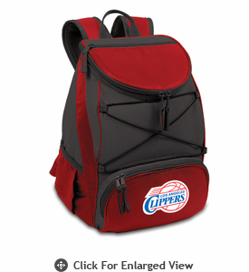 Picnic Time NBA - Red PTX Backpack Cooler Los Angeles Clippers