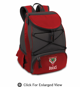 Picnic Time NBA - Red PTX Backpack Cooler Milwaukee Bucks