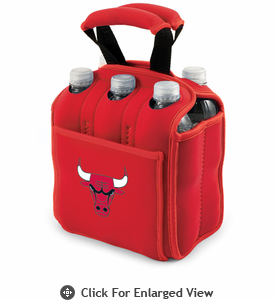 Picnic Time NBA - Red Six Pack Carrier Chicago Bulls