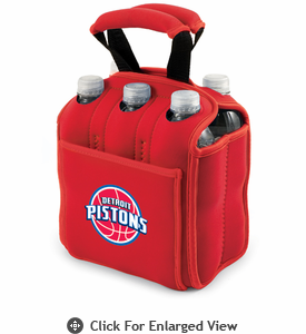 Picnic Time NBA - Red Six Pack Carrier Detroit Pistons