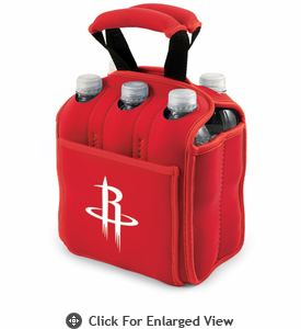 Picnic Time NBA - Red Six Pack Carrier Houston Rockets