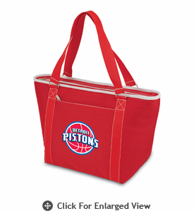 Picnic Time NBA - Red Topanga Cooler Tote Detroit Pistons