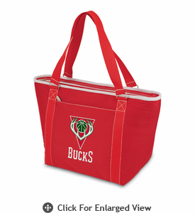 Picnic Time NBA - Red Topanga Cooler Tote Milwaukee Bucks