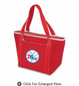 Picnic Time NBA - Red Topanga Cooler Tote Philadelphia 76ers