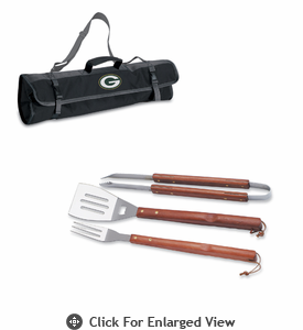 Picnic Time NFL - 3-pc BBQ Tote Green Bay Packers