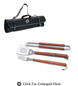 Picnic Time NFL - 3-pc BBQ Tote Miami Dolphins