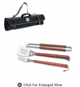 Picnic Time NFL - 3-pc BBQ Tote Pittsburgh Steelers