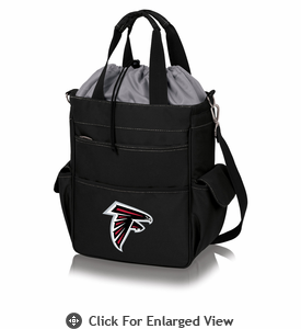 Picnic Time NFL - Activo Cooler Tote Atlanta Falcons Black w/ Grey
