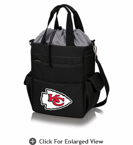 Picnic Time NFL - Activo Cooler Tote Kansas City Chiefs Black w/ Grey