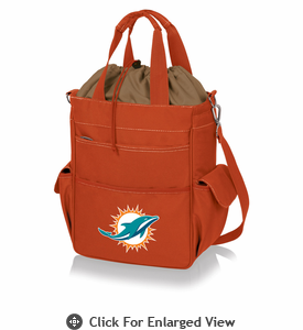 Picnic Time NFL - Activo Cooler Tote Miami Dolphins Orange