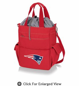 Picnic Time NFL - Activo Cooler Tote New England Patriots Red