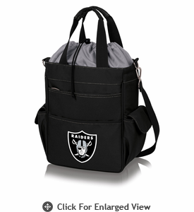 Picnic Time NFL - Activo Cooler Tote Oakland Raiders Black w/ Grey
