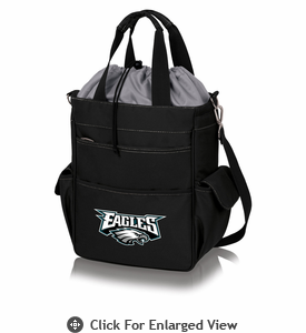 Picnic Time NFL - Activo Cooler Tote Philadelphia Eagles Black w/ Grey