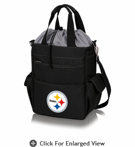 Picnic Time NFL - Activo Cooler Tote Pittsburgh Steelers Black w/ Grey