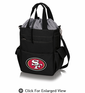 Picnic Time NFL - Activo Cooler Tote San Francisco 49ers Black w/ Grey