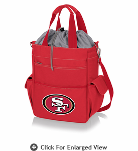 Picnic Time NFL - Activo Cooler Tote San Francisco 49ers Red