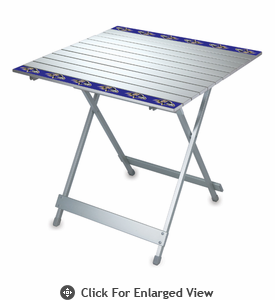 Picnic Time NFL - Aluminum Travel Table Baltimore Ravens