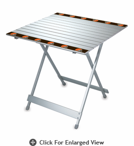 Picnic Time NFL - Aluminum Travel Table Cleveland Browns