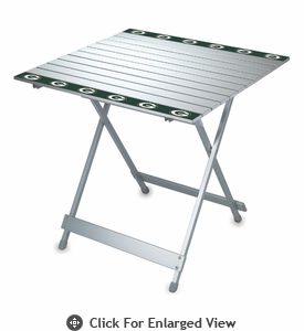 Picnic Time NFL - Aluminum Travel Table Green Bay Packers