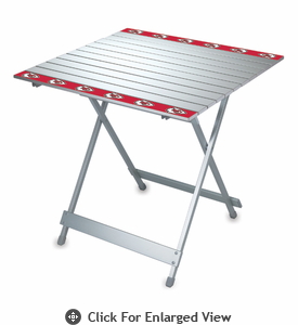 Picnic Time NFL - Aluminum Travel Table Kansas City Chiefs