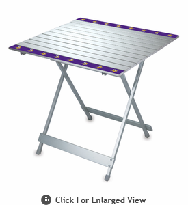 Picnic Time NFL - Aluminum Travel Table Minnesota Vikings