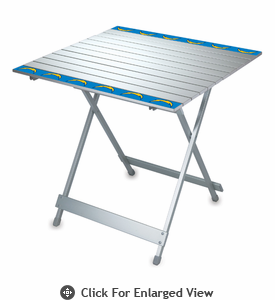 Picnic Time NFL - Aluminum Travel Table San Diego Chargers