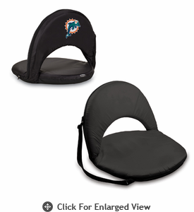 Picnic Time NFL - Black Oniva Seat Miami Dolphins