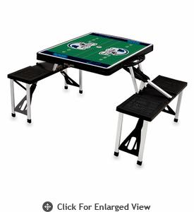 Picnic Time NFL - Black Picnic Table Sport Carolina Panthers