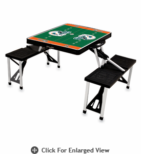 Picnic Time NFL - Black Picnic Table Sport Miami Dolphins
