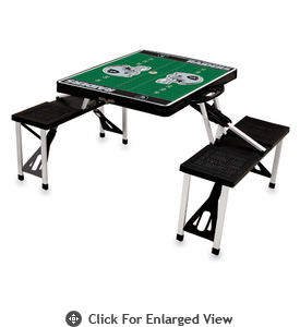 Picnic Time NFL - Black Picnic Table Sport Oakland Raiders
