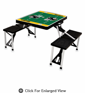Picnic Time NFL - Black Picnic Table Sport Pittsburgh Steelers