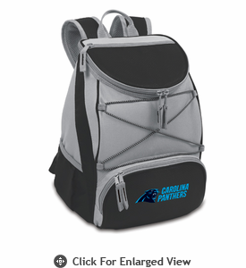 Picnic Time NFL - Black PTX Backpack Cooler Carolina Panthers