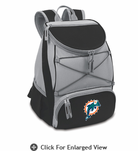 Picnic Time NFL - Black PTX Backpack Cooler Miami Dolphins