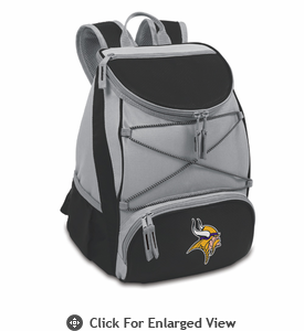 Picnic Time NFL - Black PTX Backpack Cooler Minnesota Vikings