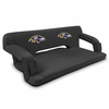 Picnic Time NFL - Black Reflex Travel Couch Baltimore Ravens