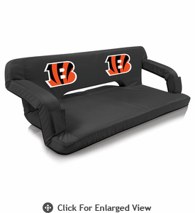 Picnic Time NFL - Black Reflex Travel Couch Cincinnati Bengals