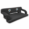 Picnic Time NFL - Black Reflex Travel Couch Miami Dolphins