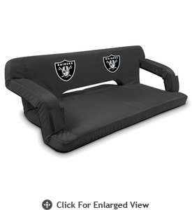 Picnic Time NFL - Black Reflex Travel Couch Oakland Raiders