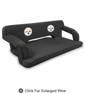 Picnic Time NFL - Black Reflex Travel Couch Pittsburgh Steelers