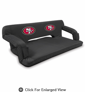 Picnic Time NFL - Black Reflex Travel Couch San Francisco 49ers