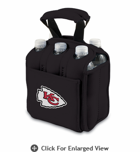 Picnic Time NFL - Black Six Pack Kansas City Chiefs
