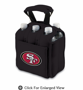 Picnic Time NFL - Black Six Pack San Francisco 49ers