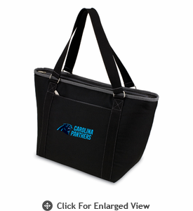 Picnic Time NFL - Black Topanga Cooler Tote Carolina Panthers