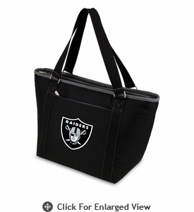 Picnic Time NFL - Black Topanga Cooler Tote Oakland Raiders