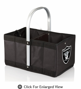 Picnic Time NFL - Black Urban Basket Oakland Raiders