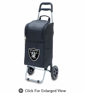 Picnic Time NFL - Cart Cooler Black Oakland Raiders