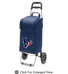 Picnic Time NFL - Cart Cooler Navy Blue Houston Texans
