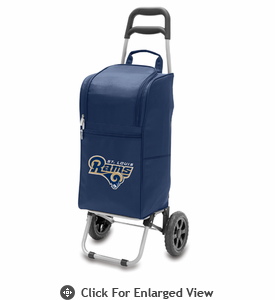 Picnic Time NFL - Cart Cooler Navy Blue Saint Louis Rams
