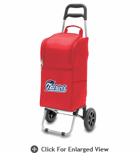 Picnic Time NFL - Cart Cooler Red New England Patriots