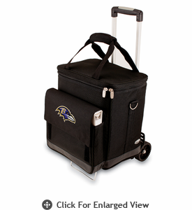 Picnic Time NFL - Cellar w/Trolley Baltimore Ravens